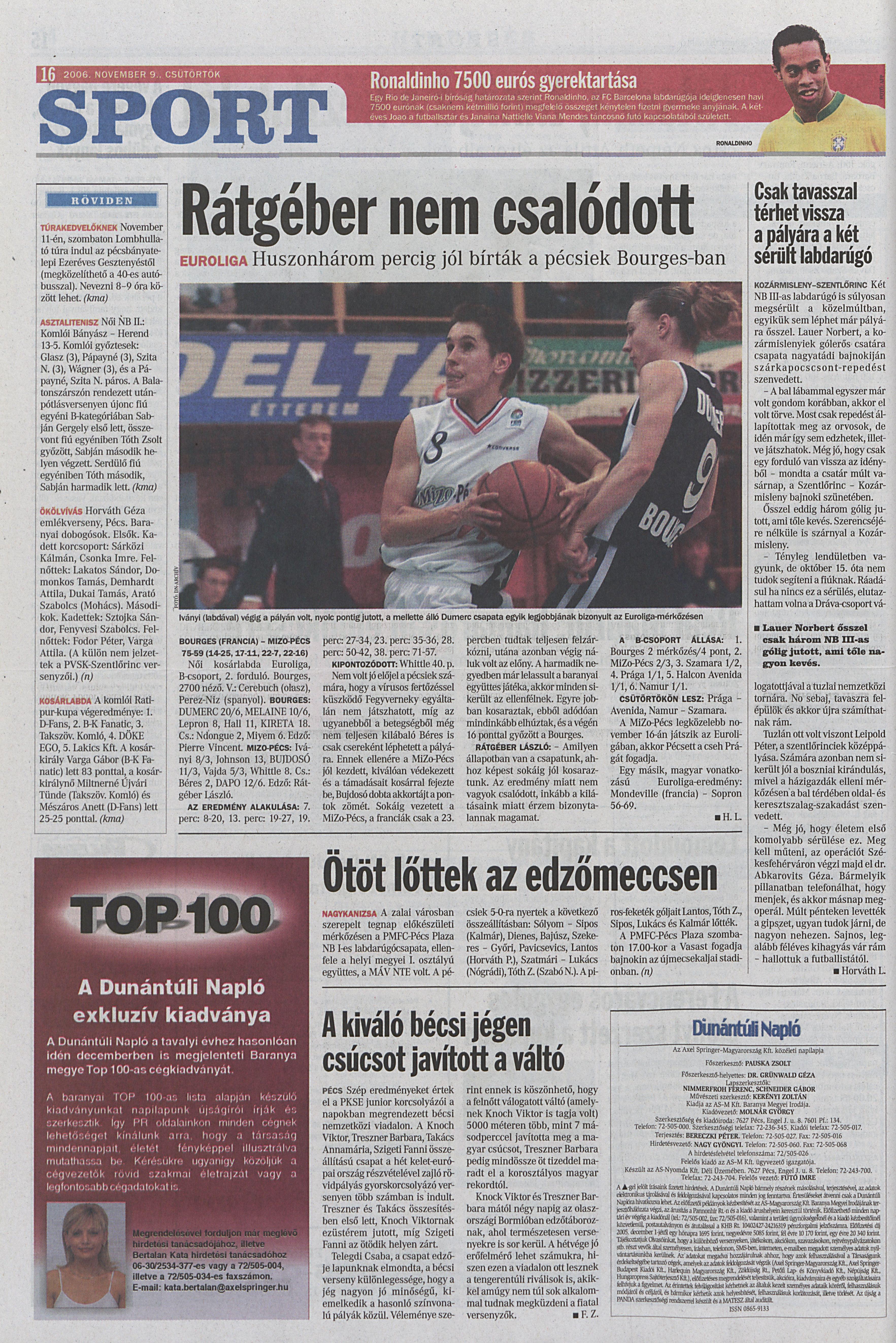 Bourges Basket - MiZo-Pécs 75-59